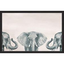 Elephant Poses II Framed Print