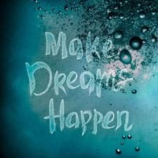 Make Dreams Happen II Stretched Canvas Wall Art