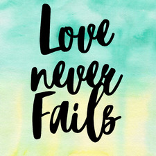 Love Never Fails VIII Stretched Canvas Wall Art
