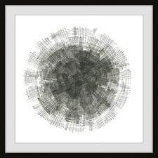 Black Stitches Framed Printed Wall Art