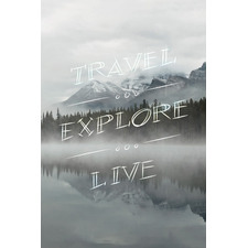 Travel, Explore, Live Stretched Canvas Wall Art