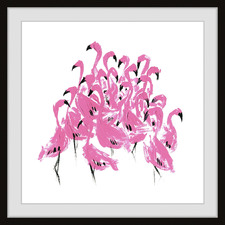 Flamingo Craze Framed Printed Wall Art
