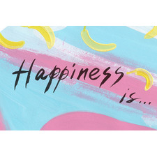 Happiness Is Stretched Canvas Wall Art