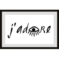 J'Adore Eye Framed Printed Wall Art
