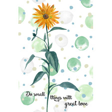 Do Small Things with Great Love III Stretched Canvas Wall Art
