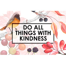 With Kindness Stretched Canvas Wall Art