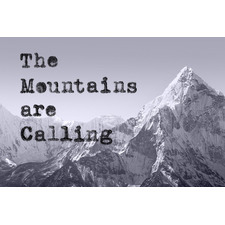 The Mountains Are Calling II Stretched Canvas Wall Art