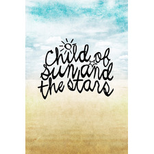 Child of Sun & Stars Painting Stretched Canvas Wall Art
