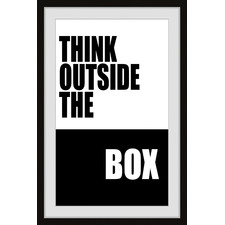 Outside the Box Framed Printed Wall Art