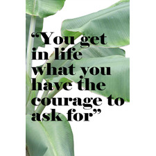Have The Courage Stretched Canvas Wall Art
