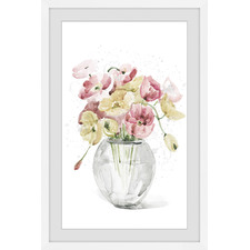 Chromatic Blooms Framed Printed Wall Art