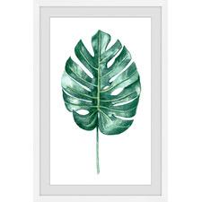 Banana Leaf Portrait Framed Printed Wall Art