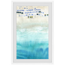 Beach Sun Beds Framed Printed Wall Art