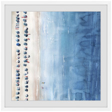 Blue Sun Lounges Framed Printed Wall Art