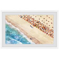 Beach Blanket Rows Framed Printed Wall Art