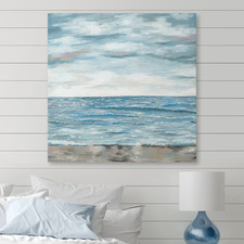 High Tide Good Vibes Stretched Canvas Wall Art