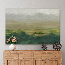 Misty Valley I Stretched Canvas Wall Art