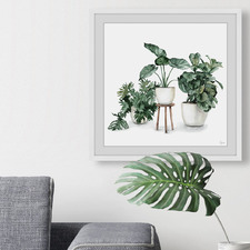 Indoor Blooming Garden Framed Printed Wall Art