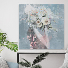 Cover in Flowers Stretched Canvas Wall Art