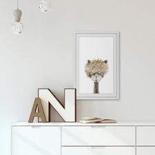 Bushy Haired Llama II Framed Print