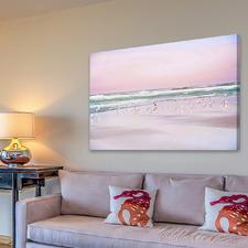 Pastel Beach Canvas Wall Art