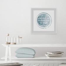 Life Unfolds Framed Printed Wall Art