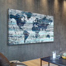 Indigo Countries Canvas Wall Art