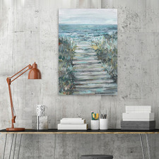 Way To The Sea Canvas Wall Art