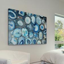 Blue Geode Bunch Canvas Wall Art