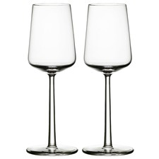 Set of 2 Iittala Essence White Wine Glasses