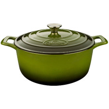Green La Cuisine Pro Series 5L Cast Iron Deep Casserole
