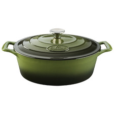Green La Cuisine Pro Series 4.5L Cast Iron Deep Casserole