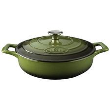 Green La Cuisine Pro Series 28cm Cast Iron Saute Pan