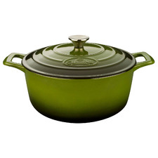 Green La Cuisine Pro Series 3.5L Cast Iron Deep Casserole