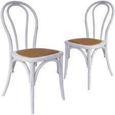 Thonet Wood & Rattan Dining Chairs (Set of 2)