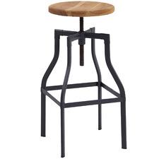 Chogan Adjustable Wooden Barstool