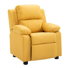 Kids' Faux Leather Recliner Chair