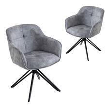Velvet Blanca Dining Chairs (Set of 2)