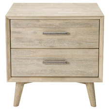 Sanders Acacia Bedside Table