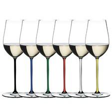 Riedel Fatto A Mano Coloured Crystal Glasses (Set of 6)