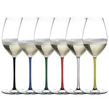 Riedel Fatto A Mano Crystal Champagne Glasses (Set of 6)