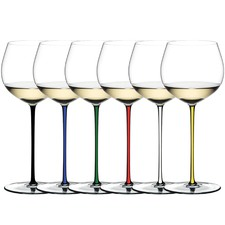 Riedel Fatto A Mano Crystal Oaked Chardonnay Glasses (Set of 6)