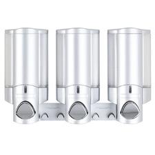 Satin Silver Aviva 300ml Triple Soap Dispenser
