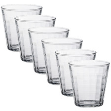 Duralex Prisme 220ml Glass Tumblers (Set of 6)