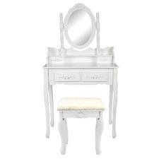 White Brinleigh Dressing Table & Stool Set