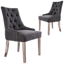 Jarett Studded French Provincial Upholstered Dining Chairs (Set of 2)
