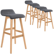 74cm  Grey Ivana Upholstered Barstools (Set of 4)