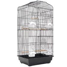 92cm Black Veer Metal Bird Cage