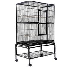137cm Black Melody Metal Bird Cage