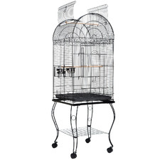 164cm Black Bella Metal Bird Cage